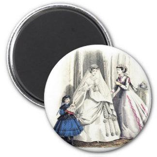 Victorian que Wedding 1 ímã redondo Ímã Redondo 5.08cm