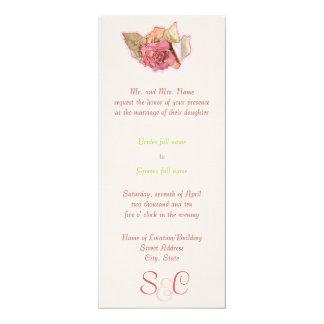 Victorian simples convite 10.16 x 23.49cm