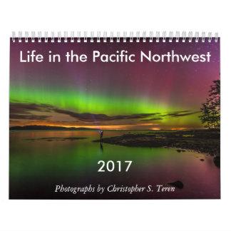 Vida 2017 no calendário de parede noroeste