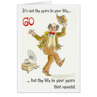 """""""Vida cartão de aniversário nos seus anos"""" 60th"""