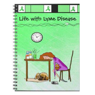 Vida com o caderno ou o jornal da doença de Lyme