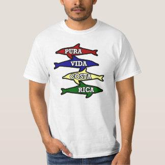 Vida Costa Rica coloriu golfinhos Camiseta