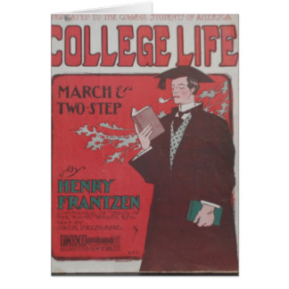 Vida da faculdade cartão de nota