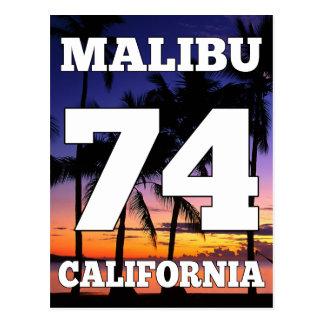 Vida da praia de Wellcoda Malibu Califórnia EUA Cartão Postal