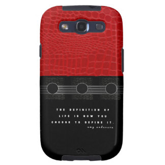 Vida de couro vermelha capa personalizadas samsung galaxy s3