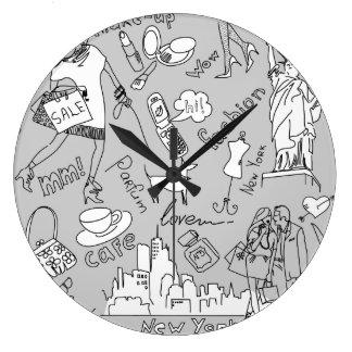 Vida de New York Relógios De Paredes