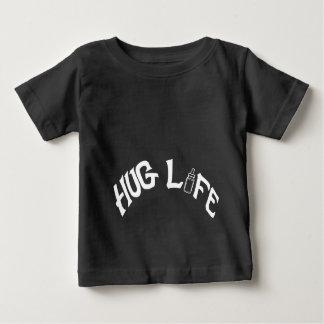 Vida do abraço - t-shirt fino do jérsei do bebê, camiseta para bebê