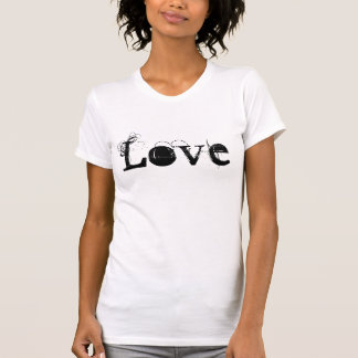 Vida do amor no vintage branco e preto t-shirts