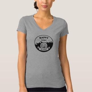 Vida do campista feliz - V cinzento - camisa do