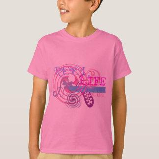 Vida do carretel no rosa camiseta