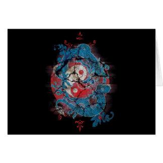 Vida do dragão de Yin Yang Cartão Comemorativo