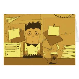 Vida do escritório cartão comemorativo