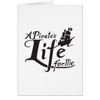 Vida do pirata para mim cartão