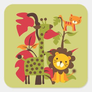 Vida do safari adesivo quadrado