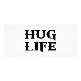 Vida do vândalo da vida do abraço 10.16 x 22.86cm panfleto