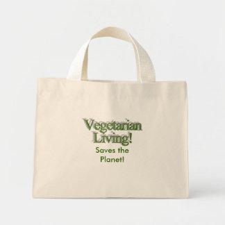 Vida do vegetariano! , Salvar o planeta! Sacola Tote Mini