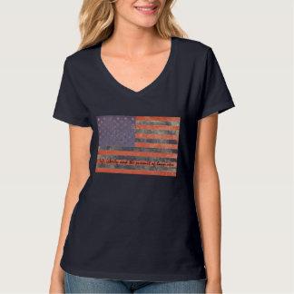 Vida e liberdade da bandeira dos EUA T-shirt