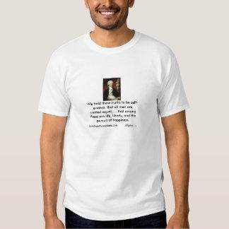 Vida, liberdade e a perseguição da felicidade camisetas