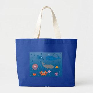 Vida marinha dos desenhos animados bonitos bolsas