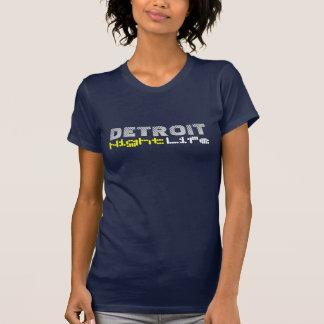 Vida noturno de Detroit T-shirt
