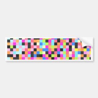 Vida noturno (funk do pixel) adesivo para carro