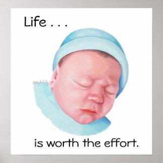 Vida por recém-nascido (poster) pôster