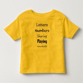 Vida pré-escolar camiseta infantil