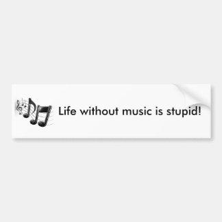 Vida sem música adesivo