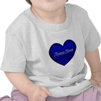 Vidas azuis de Jesus do coração Camisetas