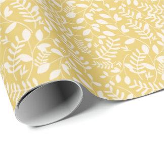 Videiras amarelas e brancas - papel de embrulho
