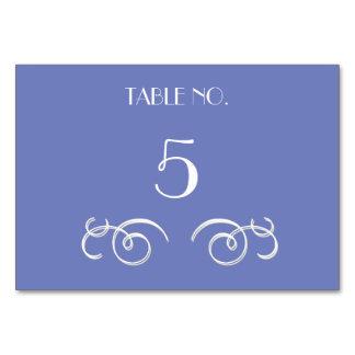 Videiras azuis que Wedding cartões da mesa