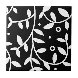 Videiras florais pretas & brancas contemporâneas