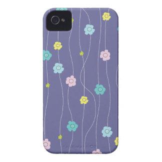 Videiras irrisórios coloridas da flor capa para iPhone 4 Case-Mate