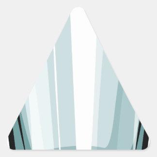Vidro claro adesivo triangular