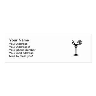 Vidro de cocktail cartão de visita skinny