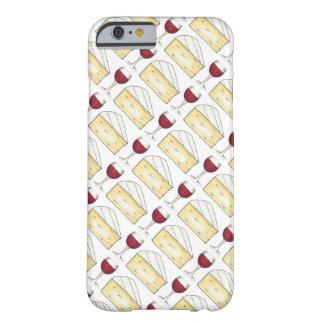 Vidro de vinho tinto + Capa de telefone do queijo