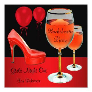Vidro de vinho vermelho dos saltos dos calçados da convites personalizado