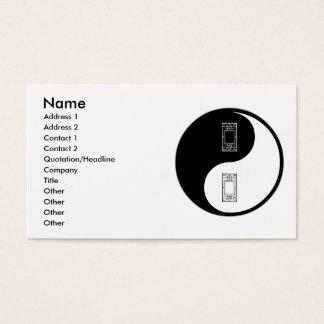 Vidro de Yin Yang Cartão De Visitas