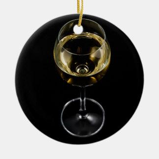 vidro do champanhe ornamento de cerâmica redondo