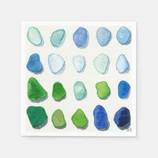 Vidro do mar, guardanapo de vidro da arte da praia