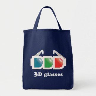 vidros 3D Sacola Tote De Mercado