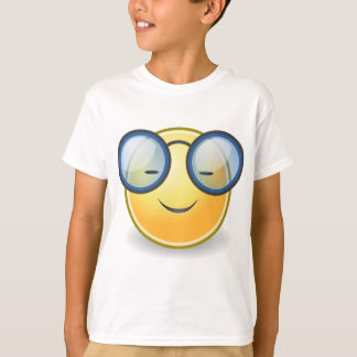 Vidros alaranjados espertos do smiley camiseta