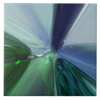 Vidros azuis e verdes azulejo