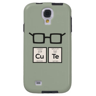 Vidros bonitos Zwp34 do nerd do elemento químico Capa Galaxy S4