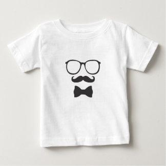 Vidros de Bowtie do hipster do bigode T-shirt