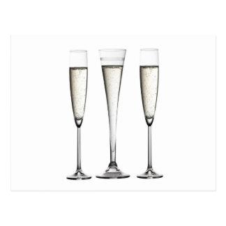 Vidros de Champagne Cartão Postal