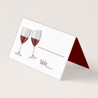 Vidros de vinho vermelhos de Borgonha Champagne Cartão De Mesa