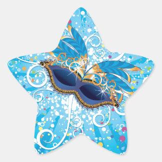 Vidros do carnaval adesito estrela