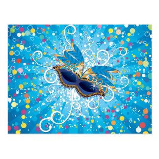 Vidros do carnaval cartão postal