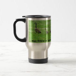 Vidros dos gansos das canecas dos copos de café